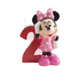 8 Bougies Nº 2 Minnie Mouse 6,5 cm