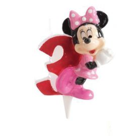 8 Bougies Nº 3 Minnie Mouse 6,5 cm