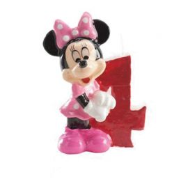 8 Bougies Nº 4 Minnie Mouse 6,5 cm