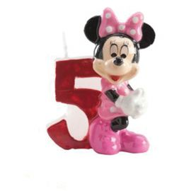 8 Bougies Nº 5 Minnie Mouse 6,5 cm
