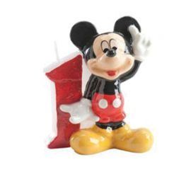 Bougie Nº 1 Mickey Mouse 6,5 cm