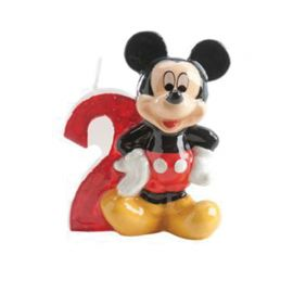 Bougie Nº 2 Mickey Mouse 6,5 cm