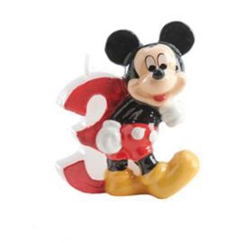 Bougie Nº 3 Mickey Mouse 6,5 cm