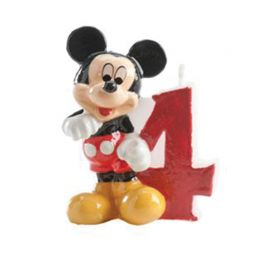 Bougie Nº 4 Mickey Mouse 6,5 cm