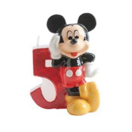 Bougie Nº 5 Mickey Mouse 6,5 cm