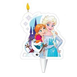 Bougie en forme de Elsa, Anna et Olaf 2D