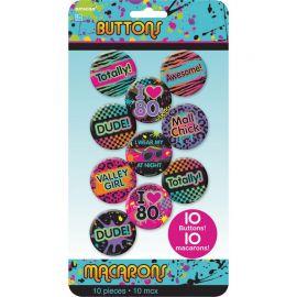 10 Badges Années 80
