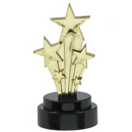 6 Trophées avec Étoiles 10 cm