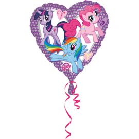 Ballon My Little Pony en Forme de Coeur à Paillettes