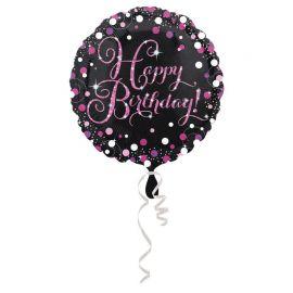Ballon Mylar Élegant Rose Happy Birthday