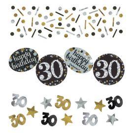 Confettis Élegants Fête 30 Ans