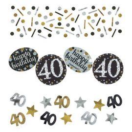 Confetti Elegant pour Célébration 40 Ans