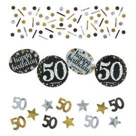 Confetti Élégant Célébration 50 Ans