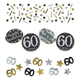 Confetti Elegant Célébration 60 Ans