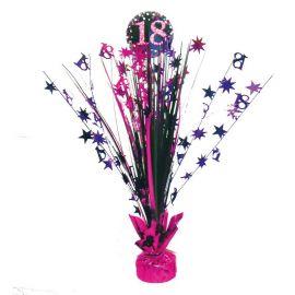 Centre de Table Elegant Rose 18 Ans 33 cm