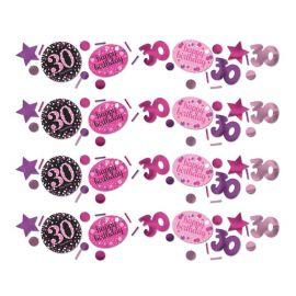 Confettis Elegant Rose Célébration 30 Ans
