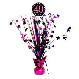 Centre de Table Élégant Rose 40 Ans 33 cm