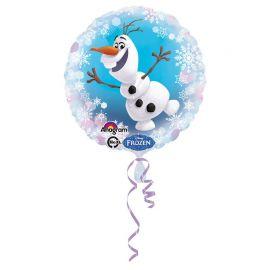 Ballon Rond Olaf La Reine des Neiges en Aluminium 45 cm