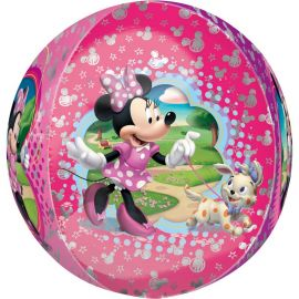 Ballon Minnie Mouse Rose Sphérique 38 cm x 40 cm