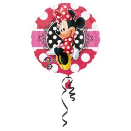 Ballon Minnie Mouse Portrait à Paillettes