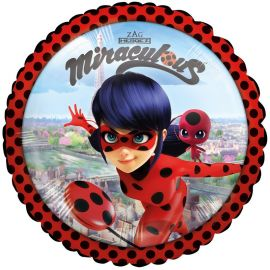Ballon Ladybug Brillant Rond
