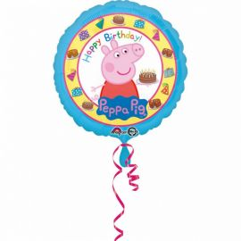 Ballon Peppa Pig Happy Birthday Brillant