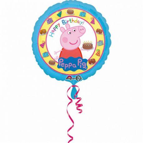 Ballon Peppa Pig Happy Birthday Brillant