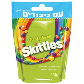 Bonbons Skittles Crazy Sours 14 paquets