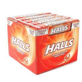 Bonbons Halls à la Fraise sans sucre 20 paquets