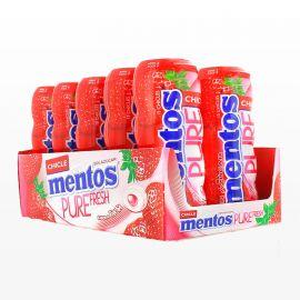 Chewing-gum Mentos à la Fraise 10 paquets