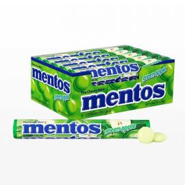 Chewing-gum Mentos Pommes 20 paquets