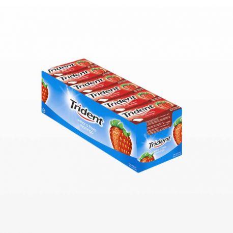 Chewing-Gum Trident Fruit de Fraise 24 paquets