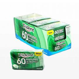 Chewing-Gum Trident 60Min Menthe Poivrée 6 unités