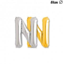 Ballon Mylar Lettre N 81 cm
