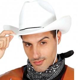 Chapeau de Cowboy en Feutre Blanc