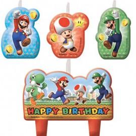 4 Bougies Super Mario Happy Birthday