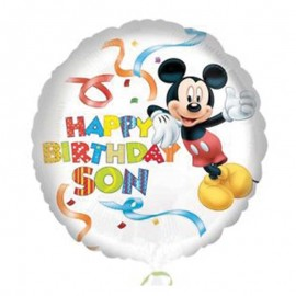 Ballon Mickey Mouse Happy Birthday Son
