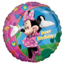 Ballon Minnie Happy Birthday Brillant