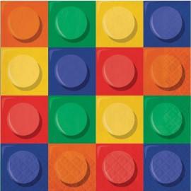16 Serviettes Lego