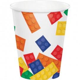 8 Gobelets Lego