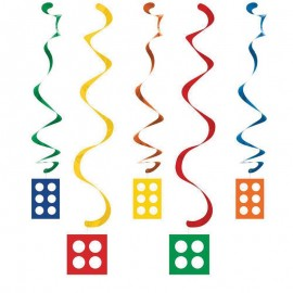 5 Pendentifs Lego