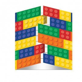 8 Invitations Lego