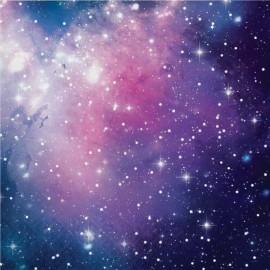 16 Serviettes Galaxie 32 cm