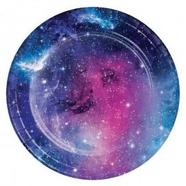 8 Assiettes Galaxie 18 cm