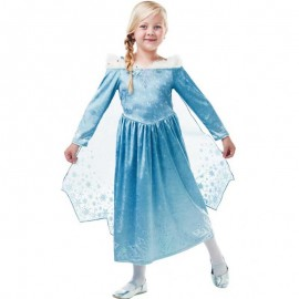Déguisement d'Elsa de La Reine des Neiges avec Manteau Court pour Enfants