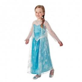 Déguisement d'Elsa de La Reine des Neiges avec Manteau Long pour Enfants