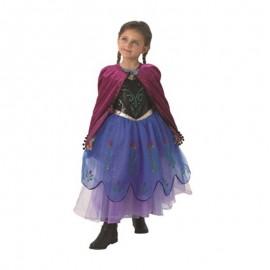 Déguisement d'Anna de La Reine des Neiges avec Manteau Long pour Enfants