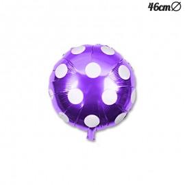 Ballon Mylar Rond à Pois 46 cm