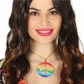 Collier Hippie Peace Multicolore