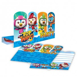 8 Invitations Top Wing